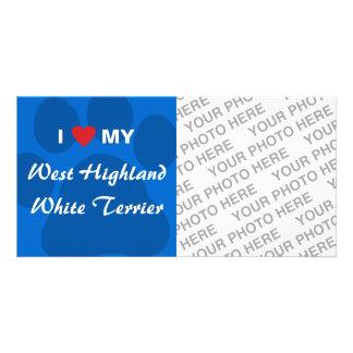 I Love My West Highland White Terrier Westie Photo Card