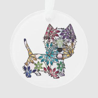 I Love My Westie - Circle Ornament