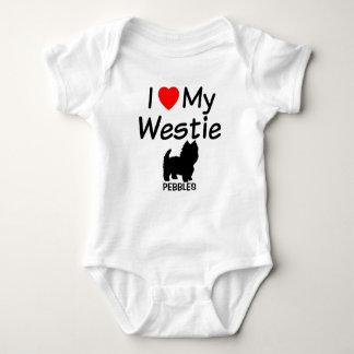 I Love My Westie Dog Baby Bodysuit