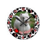 I love my Westie dog clock