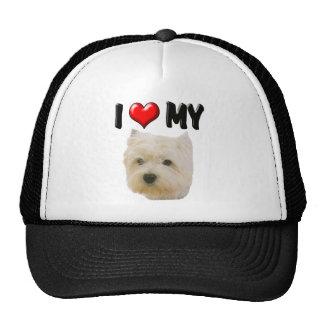 I Love My Westie Mesh Hat