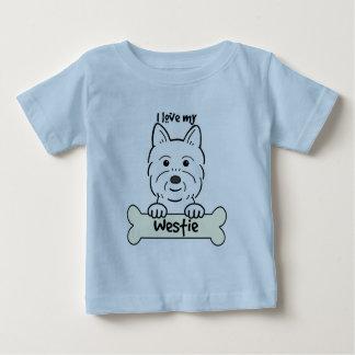 I Love My Westie Infant T-shirt