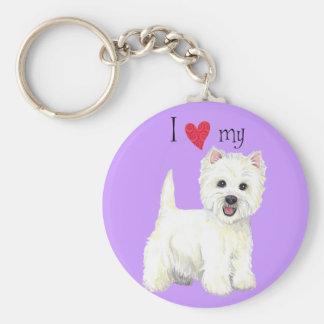 I Love my Westie Keychain