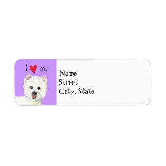 I Love my Westie Label
