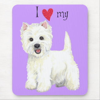 I Love my Westie Mouse Pad