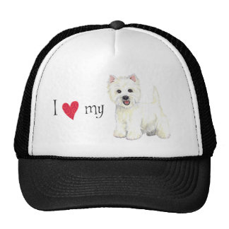 I Love my Westie Trucker Hat