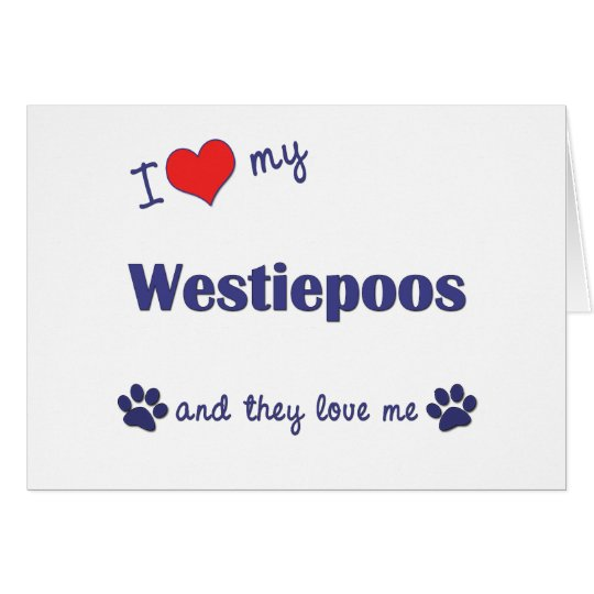 I Love My Westiepoos (Multiple Dogs) Card