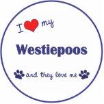 I Love My Westiepoos (Multiple Dogs) Photo Sculptures