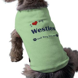 I Love My Westies (Multiple Dogs) Tee