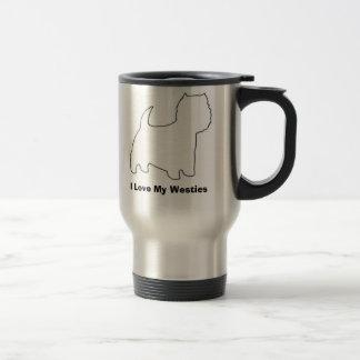 I Love My Westies Travel Mug