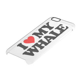 I LOVE MY WHALE CLEAR iPhone 6/6S CASE