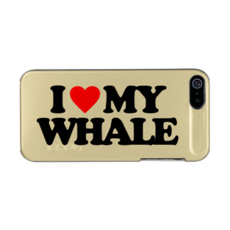 I LOVE MY WHALE METALLIC iPhone SE/5/5s CASE