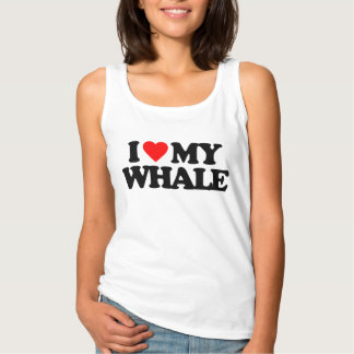 I LOVE MY WHALE TANK TOP