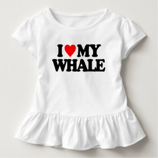 I LOVE MY WHALE TODDLER T-SHIRT