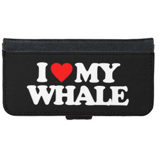 I LOVE MY WHALE WALLET PHONE CASE FOR iPhone 6/6S
