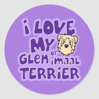 I Love My Wheaten Glen of Imaal Terrier Classic Round Sticker
