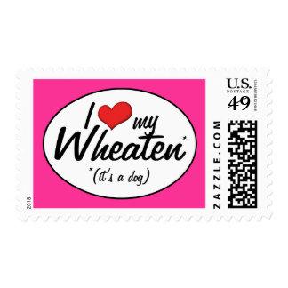 I Love My Wheaten (It's a Dog) Postage Stamp
