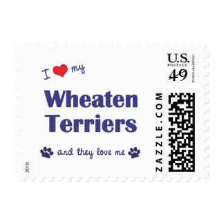 I Love My Wheaten Terriers (Multiple Dogs) Stamps