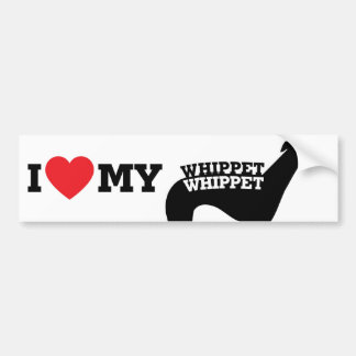 I love my Whippet Car Bumper Sticker