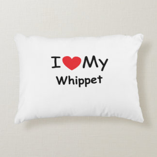 I love my Whippet dog Accent Pillow