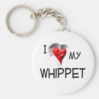 I Love My Whippet Keychain