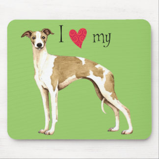 I Love my Whippet Mouse Pad