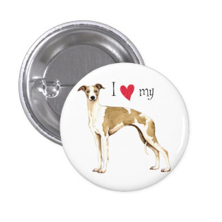 I Love my Whippet Pinback Button