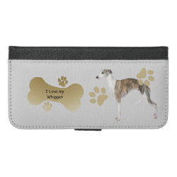 iPhone 6/6s Plus Wallet Case with Whippet Phone Cases design