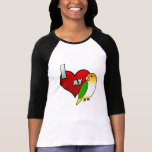 I Love my White Bellied Caique Ladies 3/4 Shirt