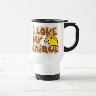 I Love My White Bellied Caique Travel Mug