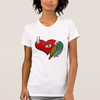 I Love my White Capped Pionus Ladies T-Shirt