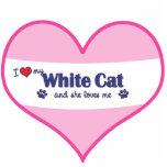 I Love My White Cat (Female Cat) Acrylic Cut Outs