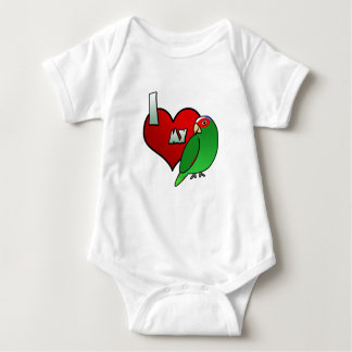 I Love my White Fronted Amazon Baby Creeper