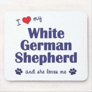 I Love My White German Shepherd (Female Dog) Mouse Pad