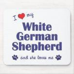 I Love My White German Shepherd (Female Dog) Mousepad
