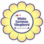 I Love My White German Shepherd (Female Dog) Acrylic Cut Out