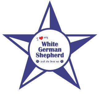 I Love My White German Shepherd (Female Dog) Statuette