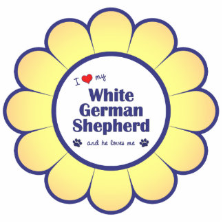 I Love My White German Shepherd (Male Dog) Statuette