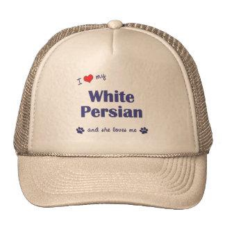 I Love My White Persian (Female Cat) Trucker Hat