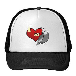 I Love my Whiteface Cockatiel Trucker Hat