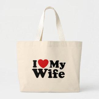 I Love My Wife Canvas Bag