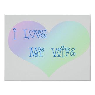 I Love My Wife Card