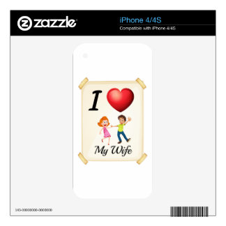 I love my wife decals for iPhone 4S