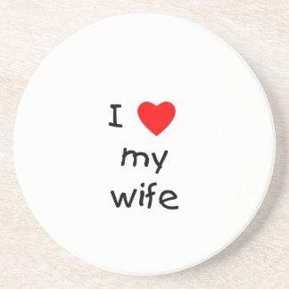I Love My Wife Drink Coaster