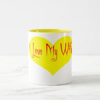 I Love My Wife (Happy Birhtday) Two-Tone Coffee Mug