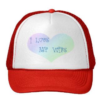 I Love My Wife Trucker Hats