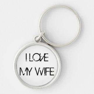 I LOVE MY WIFE KEYCHAIN