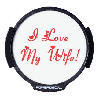 I Love My Wife LED Window Decal