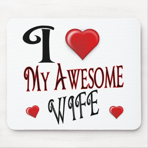 I Love My Wife Logo popular affordable Mousepad