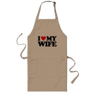 I LOVE MY WIFE LONG APRON